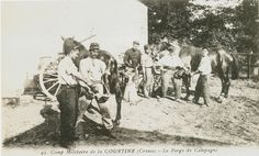 Carte Postale Postcard 1914-1918 1914 Camp militaire de la Courtine La Forge de Campagne Military camp of Courtine the Forging mill of Countryside   Flickr - Photo Sharing!