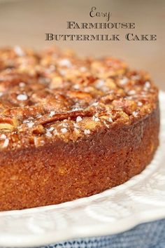 Everyone will flip over this moist, delicious buttermilk cake. My friends have n. Everyone will flip over this moist, delicious buttermilk cake. My friends Yummy Recipes, Baking Recipes, Sweet Recipes, Baking Desserts, Recipies, Recipes For Cakes, Fall Cake Recipes, Healthy Recipes, Just Desserts