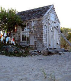 Tasha Shack, a traditional dune shack on the Cape Cod National Seashore, Massachusetts; photo by T. J. Ferguson