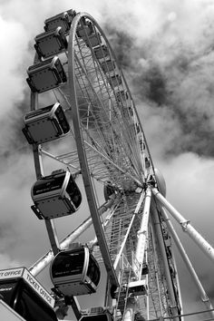 Not the London Eye - Brighton by julian john Black And White Picture Wall, Black And White Wallpaper, Black N White, Black And White Pictures, Black Aesthetic Wallpaper, Gray Aesthetic, Black And White Aesthetic, B&w Wallpaper, Usa Tumblr