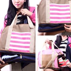 """Get your DUVERA Pink-White Stripes Bag (DB02G) for only IDR 380k! Check out our new year special offers """"Multiple Your Happiness"""" @DUVERA_id (Instagram & Twitter) lasts for limited days."""