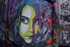 Graffiti Stencil Art by Street Artist C215