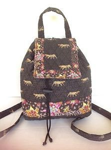 Bag Americana by Sharif Backpack Designer Fashion Floral Animal Quilted Hip Chic | eBay