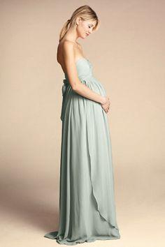 11d8fdda8ef05 Morning Mist Cerise Maternity Dress | BHLDN Blue Maternity Dress, Maternity  Wedding, Elegant Bridesmaid