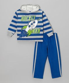 Take a look at this Blue Stripe Hoodie & Track Pants - Infant & Toddler by Little Rebels on #zulily today!