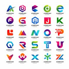 A abstract logo design Vector Creative Logo, Logo Design Template, Logo Templates, Logo Abstrait, Inspiration Logo Design, Learning Logo, Logo Creation, Lettering, Letter Logo