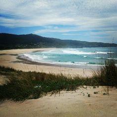 Praia de Doniños en Ferrol, Galicia
