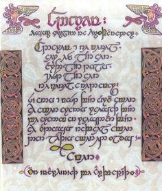 The Lord's Prayer in Tolkien's Quenya tengwar.  I want to be able to do this someday!
