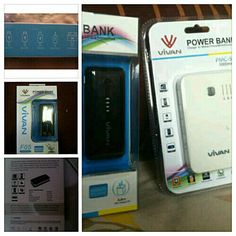 Powerbank vivan 5000mah 270rb   5500mah 290rb samsung cell inside, dijamin awet ! Line: caksosoo whatsapp: 089653588105