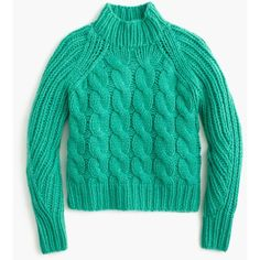 J.Crew Collection Italian Cashmere-Mohair Cable Mock Neck Sweater ($665) ❤ liked on Polyvore featuring tops, sweaters, cable sweater, mock neck top, mohair sweaters, cashmere sweater and j crew sweaters