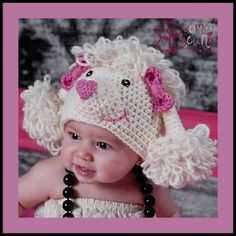 Dollar Store Crafter: Paris The Poodle Crochet Baby Hat Pattern