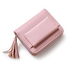 Piccola nappa delle donne della borsa femminile mini raccoglitore multifunzionale borsa delle donne della moneta della chiusura lampo di marca cambio di denaro portafoglio