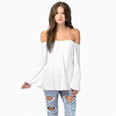 MEXI Sexy Women Summer Loose Casual Off-shoulder Chiffon Long Sleeve Vest Shirt Backless Halter Wrap Tops Blouse Pullover Mexi http://www.amazon.com/dp/B010NDJHMA/ref=cm_sw_r_pi_dp_MM.Yvb1CTVMEW