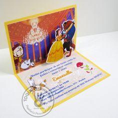 Convite 3D - A Bela e a Fera