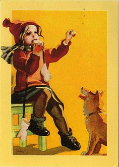 Finnish dog - Martta Wendelin - Finland Children's Films, Art Nouveau, Picasa Web Albums, Inspiration Art, Old Paintings, Illustrations And Posters, Funny Art, Christmas Art, Dog Art