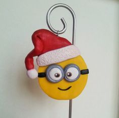 Handcrafted Polymer Clay Minion Christmas Ornament - Despicable Me Ornament