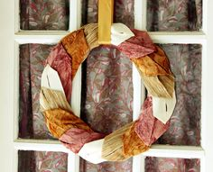 Autumn Wreath / D.I.Y. Project ... out of all the wreath diys i've seen.. this one so far is my favorite! Would look nice to add vintage flowers I think too