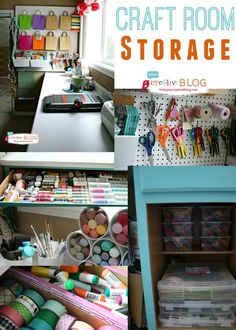 Love this clever craft room storage space