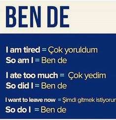 English Vocabulary, English Grammar, English Language, Learn Turkish Language, Learn A New Language, German Language Learning, Learning Spanish, Turkish Lessons, Language Quotes