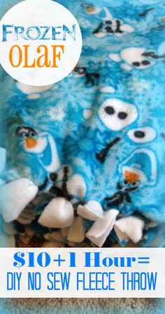 Do you have a Disney Frozen fan? Make them this simple toddler no sew blanket for less than $10!