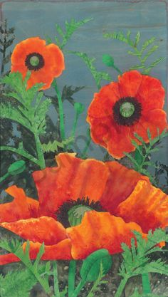 A field of cheerful orange oriental poppies. See Poppy Poppies, My Arts, Art Prints, Plants, Painting, Design, Art Impressions, Paintings