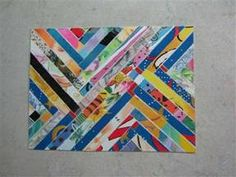 FauxQuilting- would be fun to do with comic book pages