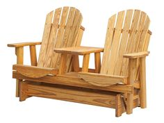 Enhance your outdoor decor when you add the Amish Pine Wood Adirondack Tete-A-Tete Glider, which provides both comfort and convenience. This Amish Glider is ha Outdoor Glider, Outdoor Chairs, Outdoor Decor, Amish Furniture, Wood Furniture, Backyard Furniture, Outdoor Furniture, Porch Swing Pallet, Pallet Bench