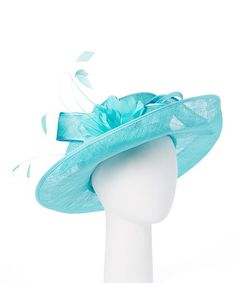 Look what I found on #zulily! Turquoise Floral Sunhat #zulilyfinds