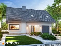 Dom w zdrojówkach 6 House Plans, Pergola, New Homes, Home And Garden, Outdoor Structures, How To Plan, Mansions, House Styles, Outdoor Decor