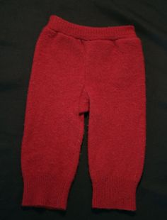 Upcycled wool longies red by AllKatydUp on Etsy
