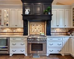 Kitchen Stove Backsplash Ideas  #12562126