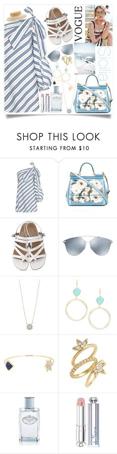 """""""Sicilia"""" by guiarch ❤ liked on Polyvore featuring Dolce&Gabbana, Christian Dior, Humble Chic, Lauren Ralph Lauren, Luv Aj, Prada and Filù Hats"""