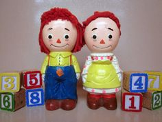 Vintage Raggedy Ann and Andy Collectible Set of by antiquelove22