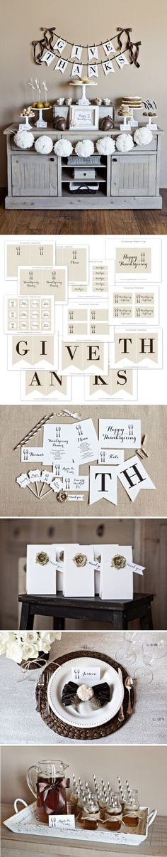 Thanksgiving DIY - GiveThanks Collection 2012 - Free PDF Printables from TheTomkat Studio