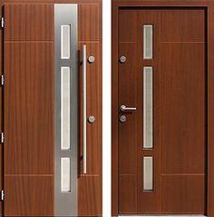 Drzwi wejściowe z aplikacjami inox model 457,1-457,11+ds1