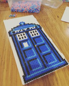 Doctor Who - Tardis hama beads by shimmer_brite
