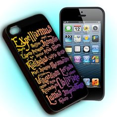 Custom Phone Case, Harry Potter Black Magic Spells For iPhone 4, iPhone 4s, iPod 4, iPod 5, Samsung Galaxy S3, Samsung Galaxy S4, Hard Cover on Etsy, $15.15