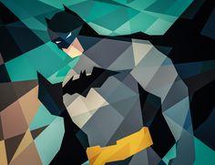 Les super-héros de DC Comics et Marvel en formes géométriques