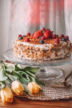 MRKVOVÝ DORT // recept | Blog by P. Tiramisu, Cheesecake, Healthy Recipes, Ethnic Recipes, Blog, Cheesecakes, Healthy Eating Recipes, Blogging, Tiramisu Cake