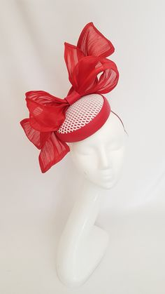RUBY RED millinery Vintage style 6 silk ROSE flower cloth pick ALEXANDER dolls