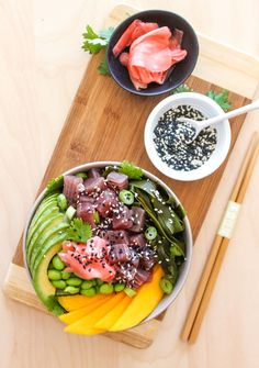 Tuna Poke Bowl - Eat Spin Run Repeat