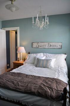 Farbgestaltung schlafzimmer auf pinterest - Rauchblau wandfarbe ...