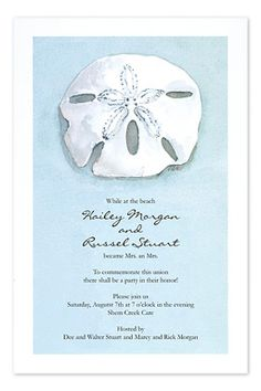 Beach Dollar - Wedding Invitations by Invitation Consultants. (Item # OB-3A124 )