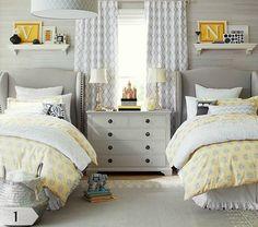 Adorable Yellow & Grey Girls Room | CREATIVE JUICE