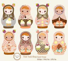 Sew to Speak: April's Mini Matryoshkas