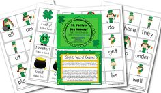 St Pattys  sight word game - -  Pinned by @PediaStaff – Please Visit http://ht.ly/63sNt for all our pediatric therapy pins