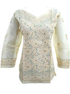 Boho Blouse Tops Floral Embroidered Cotton Yoga Indian Kurta Medium Sz, Gift for Mother Mogul Interior http://www.amazon.com/dp/B00WM6NBNS/ref=cm_sw_r_pi_dp_csZovb05BJ811