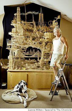 Scott Weaver's toothpick model of San Francisco