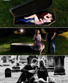 """True Blood"" romance... Creepy Halloween Engagement Photo Ideas. I would do this with the right guy."