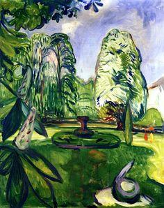 Chestnut Trees Edvard Munch - 1906